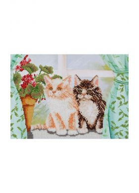 Le Kit broderie perles - Motif chatons - SEDAGYL