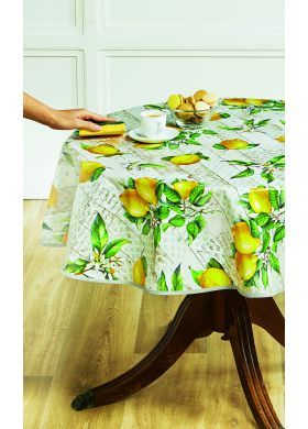 NAPPE TOILE CIREE CITRON